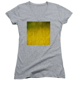 Moss In Yellow Women's V-Neck