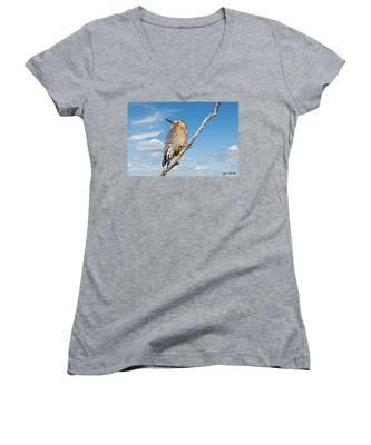 Male Gila Woodpecker Women's V-Neck