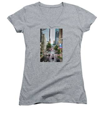 Charlotte North Carolina Views Around  Downtown Women's V-Neck