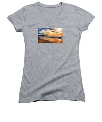 Afternoon At The Beach Women's V-Neck
