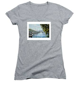 Attersee Austria Women's V-Neck