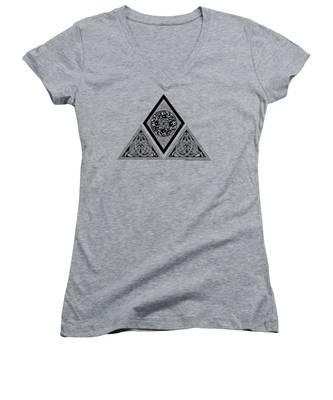 Celtic Pyramid Women's V-Neck