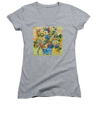 Ceramic Blue Women's V-Neck