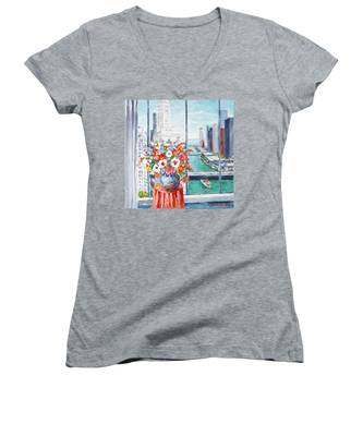 Chicago River Women's V-Neck