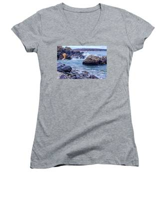 Coast Of Maine In Autumn Women's V-Neck