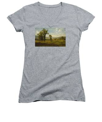 Connecticut River Valley, Claremont, New Hampshire Women's V-Neck