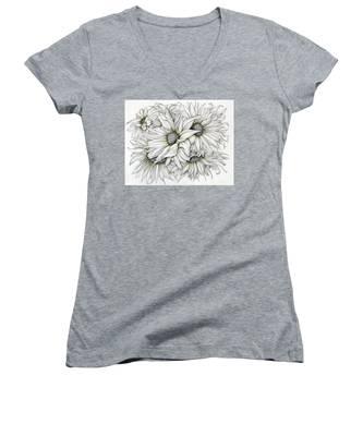 Sunflowers Pencil Women's V-Neck
