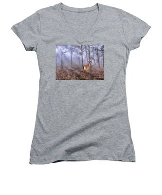 Deer Me Women's V-Neck