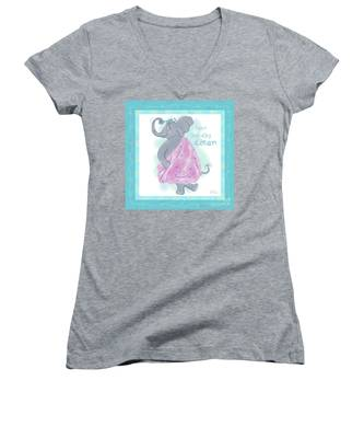Elephant Bath Time Squeaky Clean Women's V-Neck