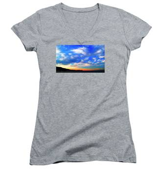 Estuary Skyscape Women's V-Neck