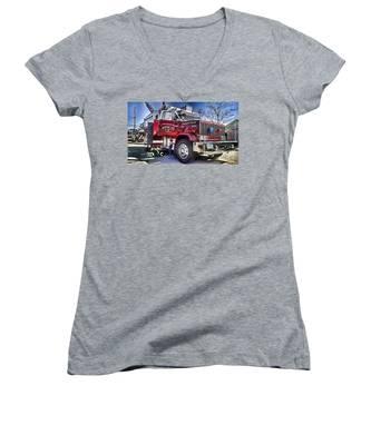 Firemen Honor And Sacrifice #2 Women's V-Neck