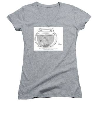 Fishbowl Mommy And Daddy Still Love You Women's V-Neck