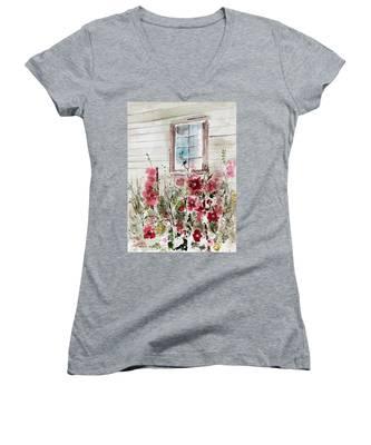 Flower Garden Women's V-Neck