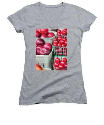 Fresh Market Fruit Women's V-Neck