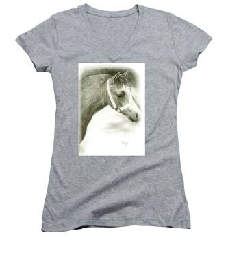 Grey Welsh Pony  Women's V-Neck