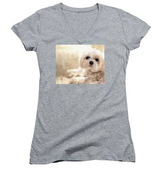 Hoping For A Cookie Women's V-Neck