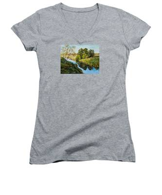 Illinois Countryside  Women's V-Neck