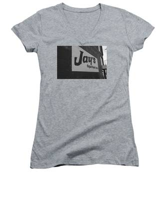Jay's Department Store In Bw Women's V-Neck