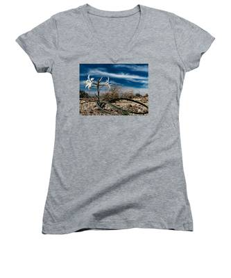 Life Amoung The Weeds Women's V-Neck
