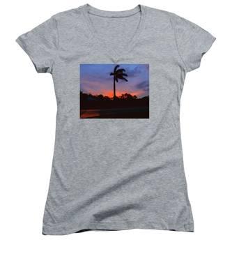 Miami Sunset Women's V-Neck
