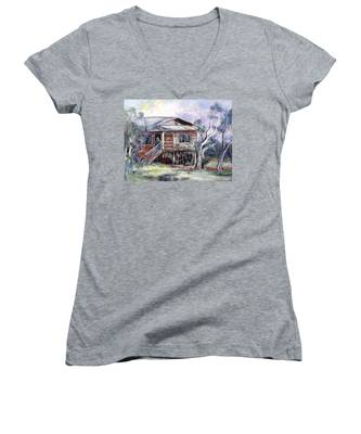 Queenslander Style House, Cloncurry. Women's V-Neck