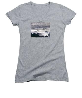 Stormy Sea Women's V-Neck