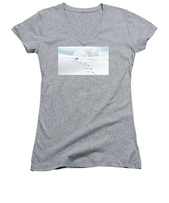 The Silver Fox Women's V-Neck