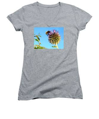 The Thistle And The Bee. Women's V-Neck