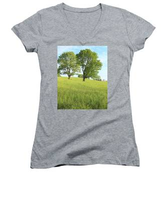 Summer Trees 2 Women's V-Neck