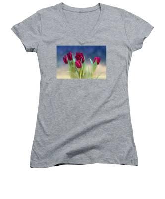 Tulips For Spring Women's V-Neck