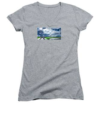 Walk With Me In The Sky Women's V-Neck