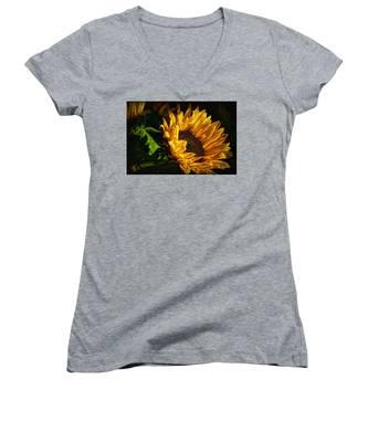 Warmth Of The Sunflower Women's V-Neck
