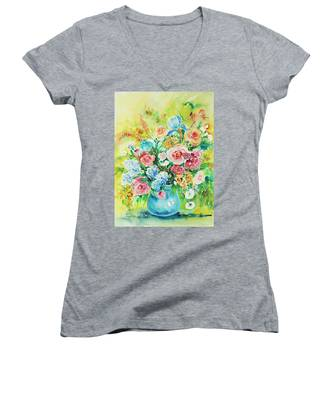 Watercolor Series 120 Women's V-Neck