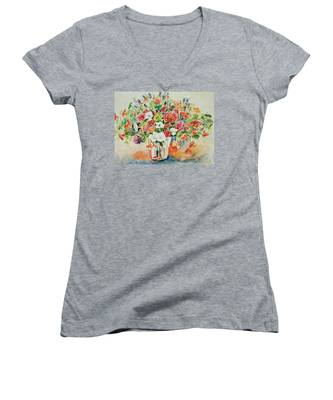 Watercolor Series 23 Women's V-Neck