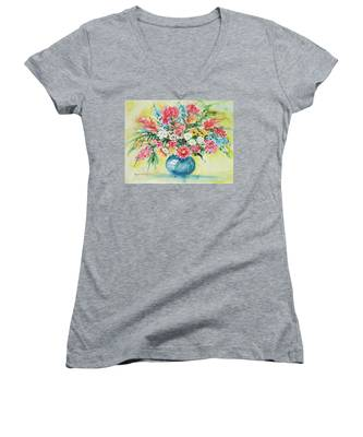 Watercolor Series 58 Women's V-Neck