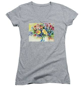 Watercolor Series 62 Women's V-Neck