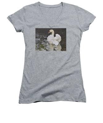 White Swan Women's V-Neck