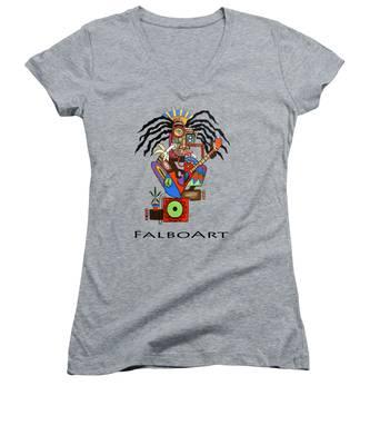 Cubist Women's V-Neck T-Shirts