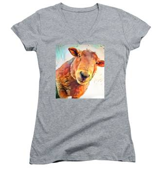 A Curious Sheep Called Shawn Women's V-Neck