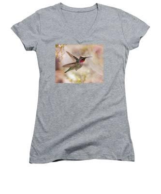 Anna's Hummingbird Women's V-Neck