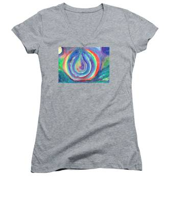 Colorful Drop Women's V-Neck