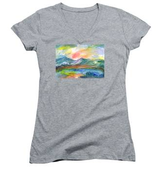 Mountain Lake Women's V-Neck