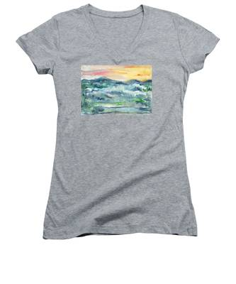 Summer Sunset Women's V-Neck