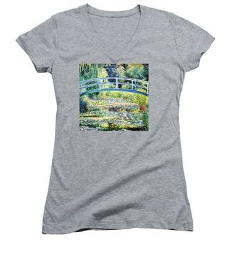 The Water Lily Pond By Monet Women's V-Neck