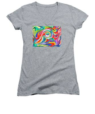 Watercolor's Swirl Women's V-Neck