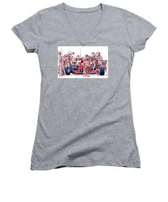Bike Women's V-Neck T-Shirts