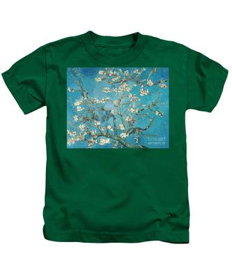 Almond Branches In Bloom Kids T-Shirt