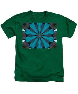 A Burst Of Blue Kids T-Shirt