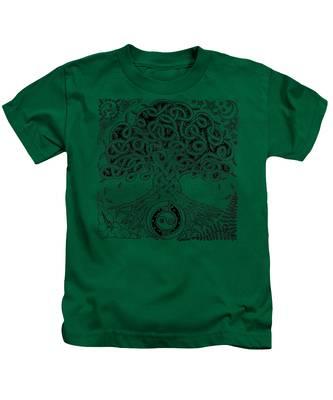 Circle Celtic Tree Of Life Inked Kids T-Shirt