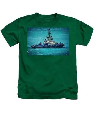 Salvage Tug Boat Kids T-Shirt